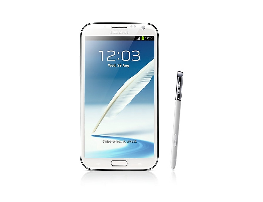 Galaxy Note Ii White Front