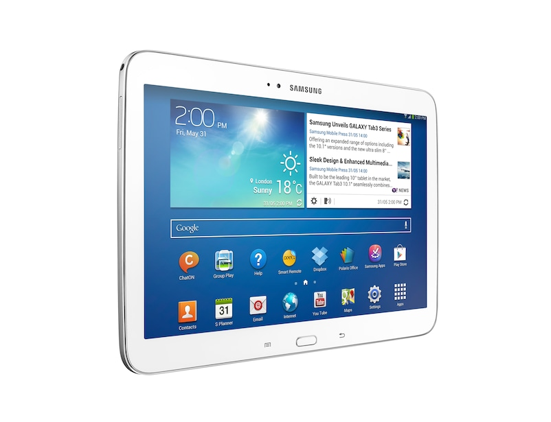 samsung galaxy tab 3 10 1 tablet wi fi 16gb white. Black Bedroom Furniture Sets. Home Design Ideas