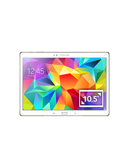 Galaxy Tab S 10.5 Wi-Fi (Dazzling White) Front