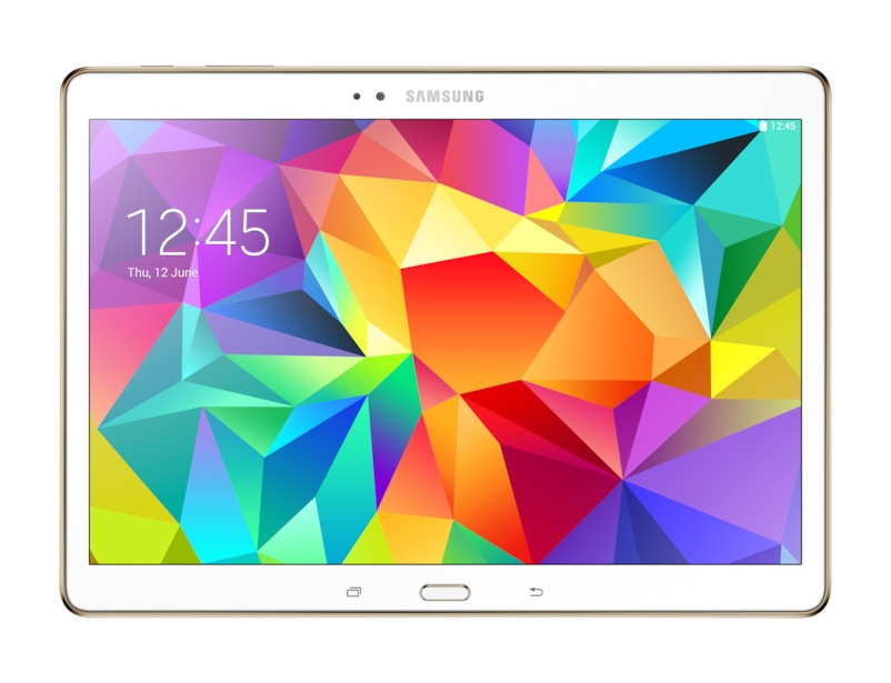 samsung galaxy tab s 10 5 wi fi 16gb tablet dazzling white. Black Bedroom Furniture Sets. Home Design Ideas