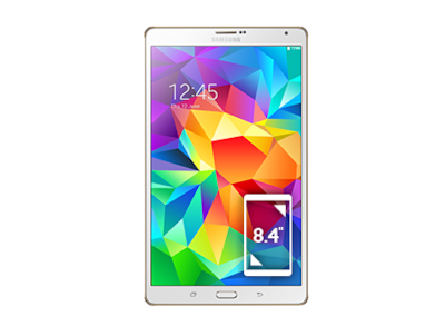 Galaxy Tab S 8.4 4G & Wi-Fi (Dazzling White) Front
