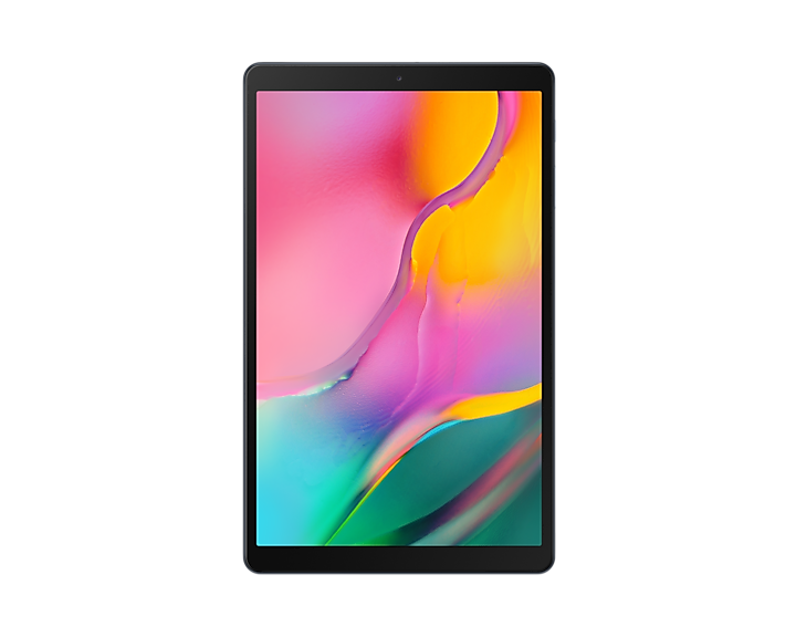 Image of a 2019 Galaxy Tab A 10.1 inch tablet on a white background