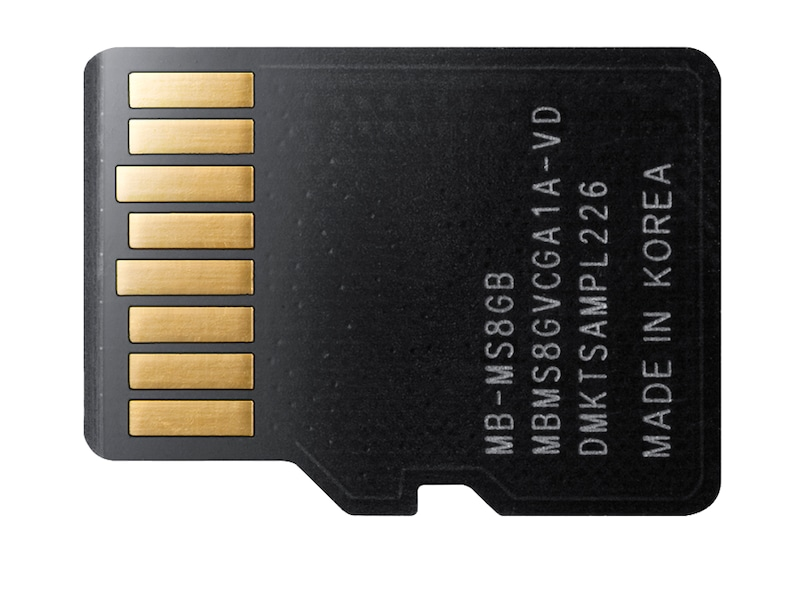8GB MicroSDHC Class 4 Memory Card Back Black MB-MS8GB