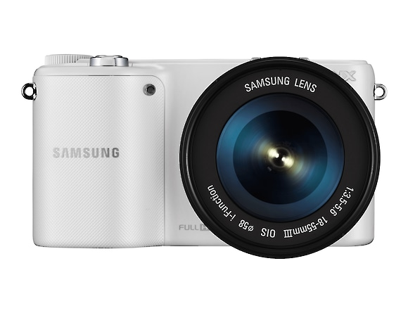 Smart Camera NX2000 & 20-50mm Lens Kit (White) Front White