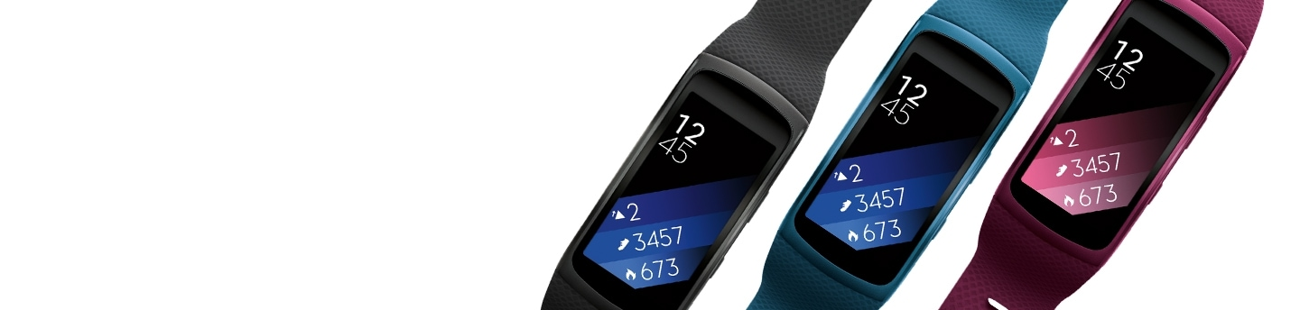 Samsung Smart Fitness Bands in Black, Blue & Pink