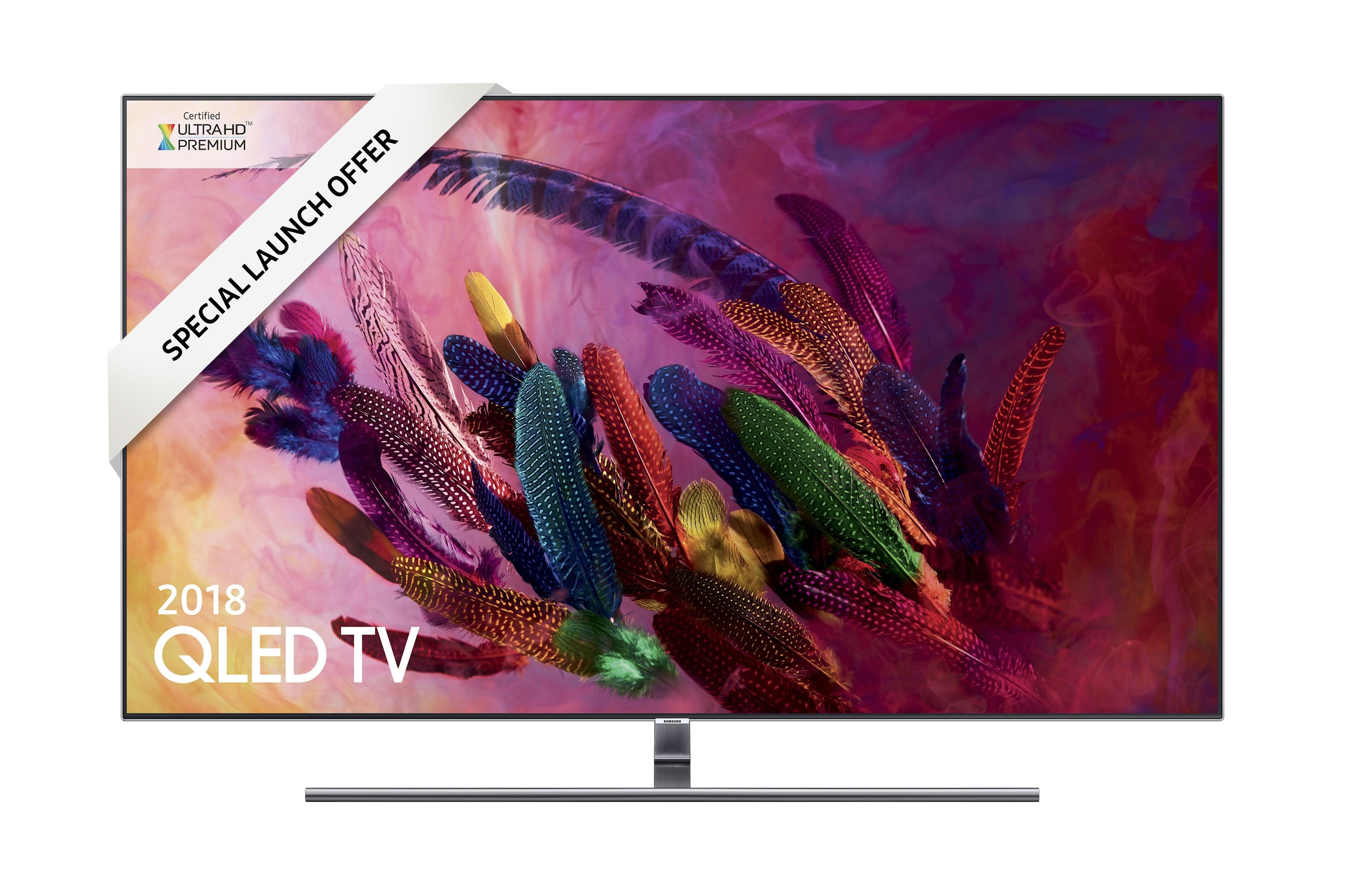 "Compare retail prices of New 2018 Samsung 65"" Silver Q7F QLED Certified Ultra HD Premium HDR 1500 Smart 4K TV (QE65Q7FNATXXU) to get the best deal online"