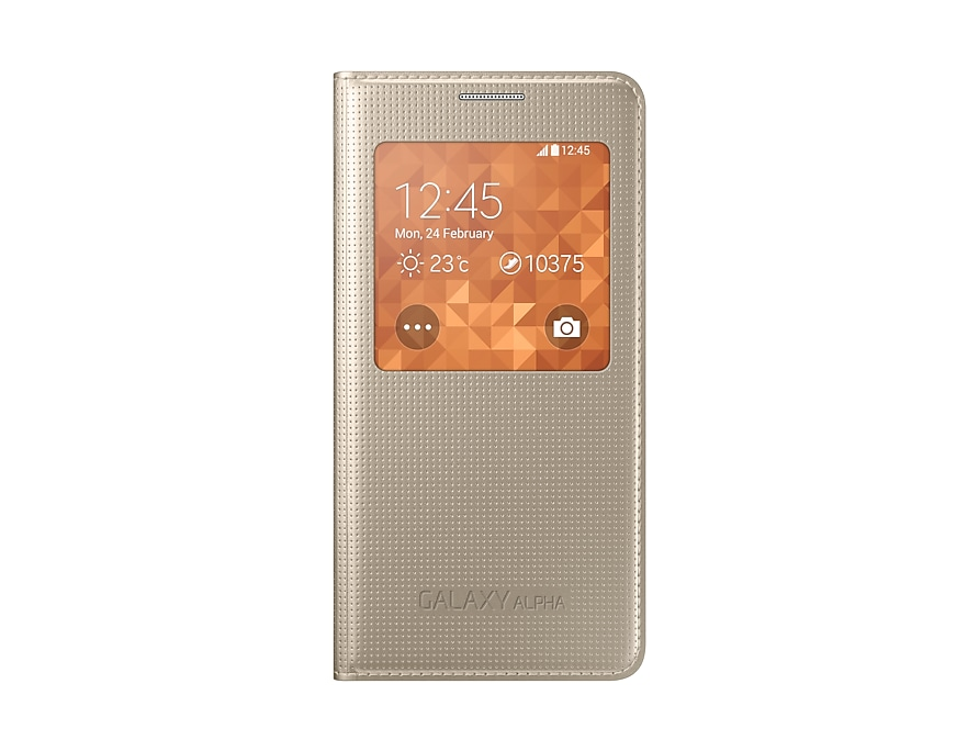newest 463cd f6130 Samsung Galaxy ALPHA S View Cover / Case (Gold) - Samsung UK