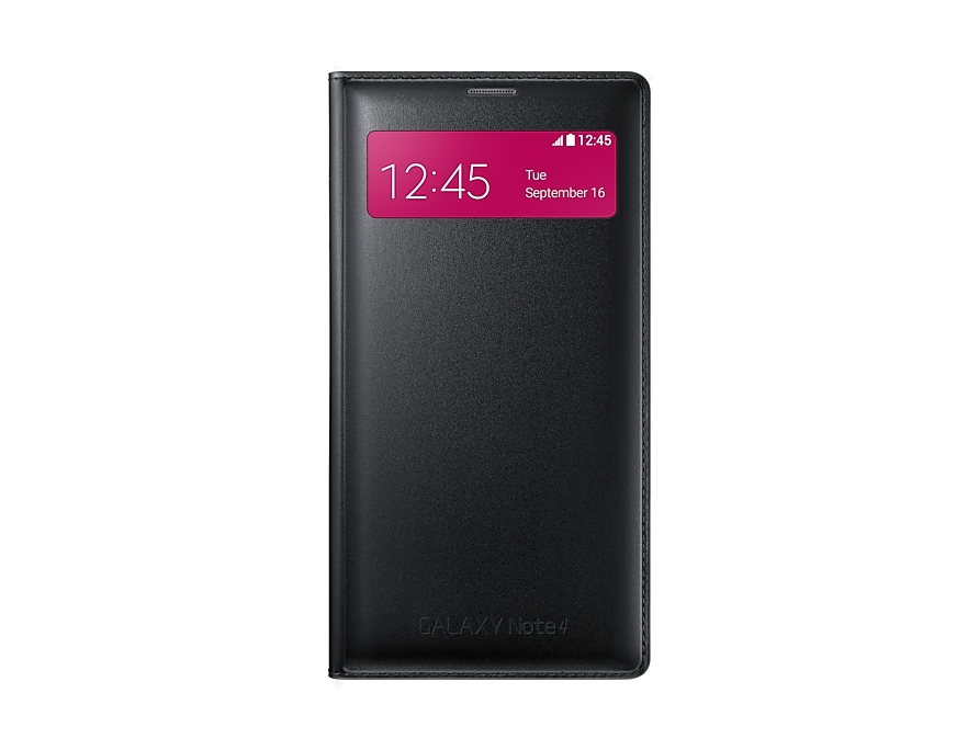 low priced 820de bfbdb Galaxy Note 4 S View Wallet Cover (Black) - Samsung UK