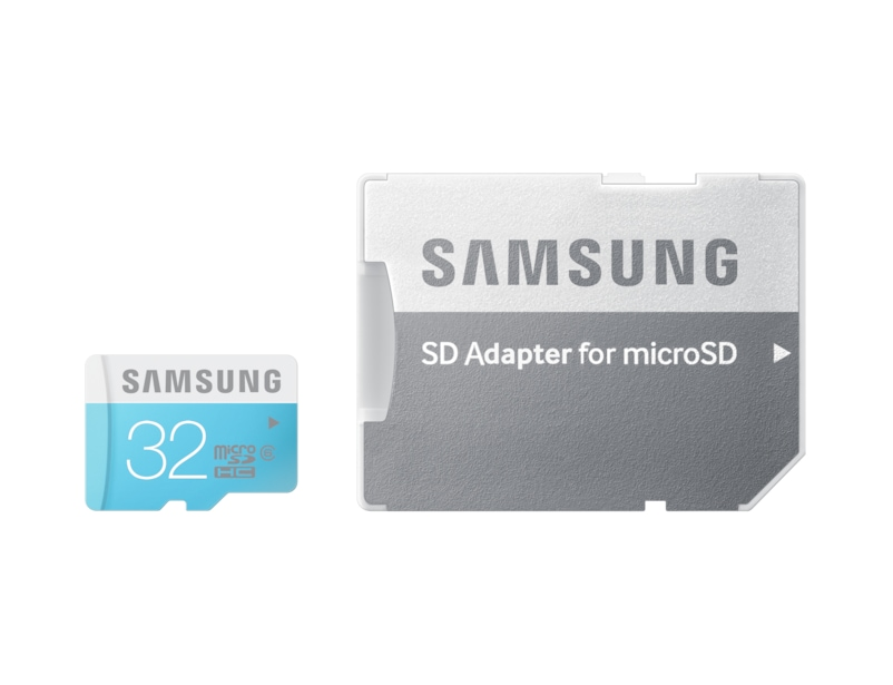 MicroSDHC Memory Card with SD Adaptor (32GB) Front Standard