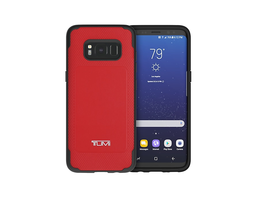 reputable site 3971d ceb80 Tumi Leather Co-Mould Case for Galaxy S8 Red | Samsung UK