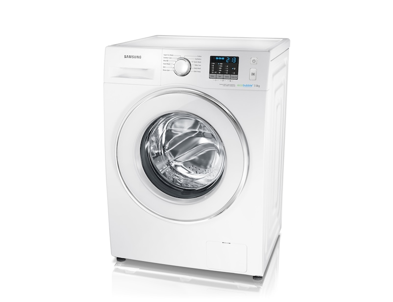 7kg 1400rpm ecobubble™ Washing Machine Right Perspective White