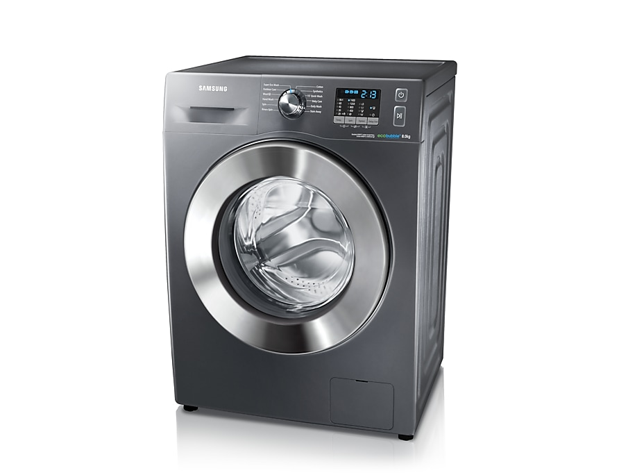 8kg 1400rpm ecobubble™ Washing Machine Right Perspective Grey