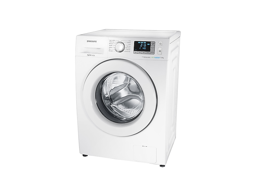 9kg 1400rpm ecobubble™ Washing Machine R perspective White