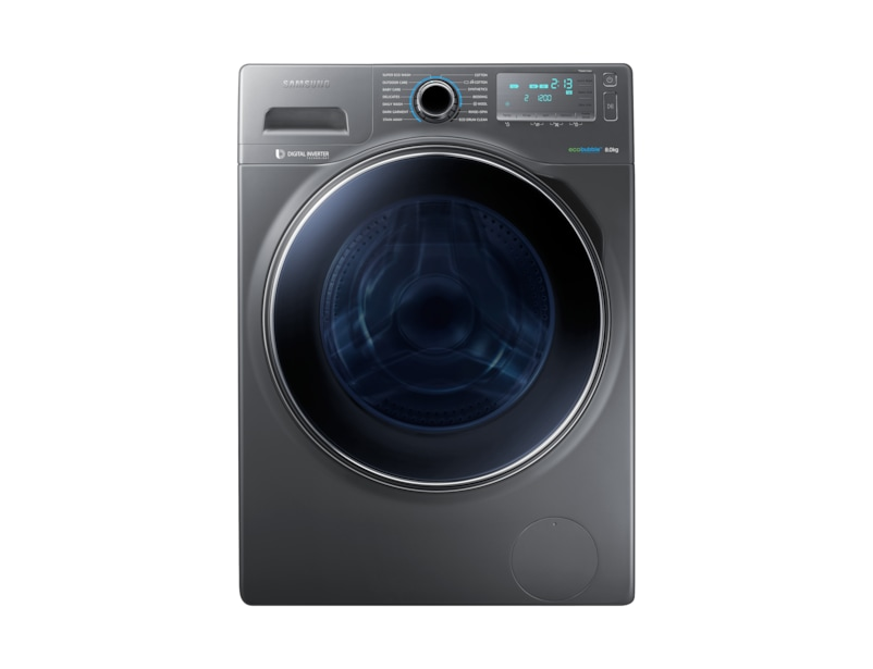 8kg ecobubble™ 1400rpm Washing Machine Front Grey