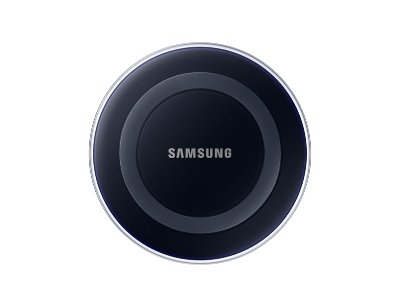 wireless charging pad galaxy s6 black samsung uk. Black Bedroom Furniture Sets. Home Design Ideas