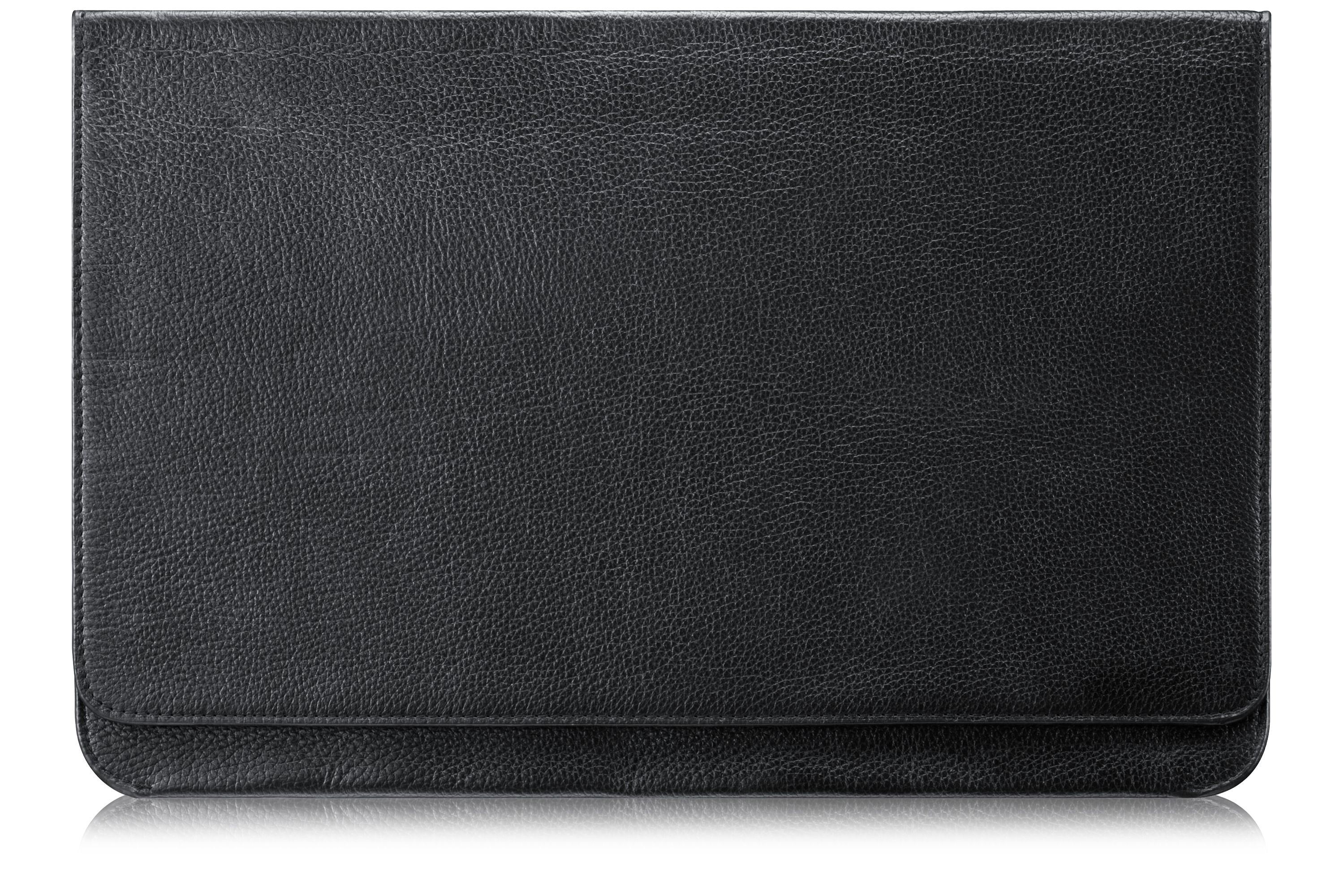 Mineral Ash Black Leather Notebook Carry Case