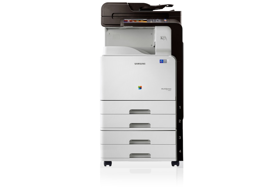 CLX-9251NA 25ppm A3 Colour Multifunction Printer 9251NA Front Basic-Logo