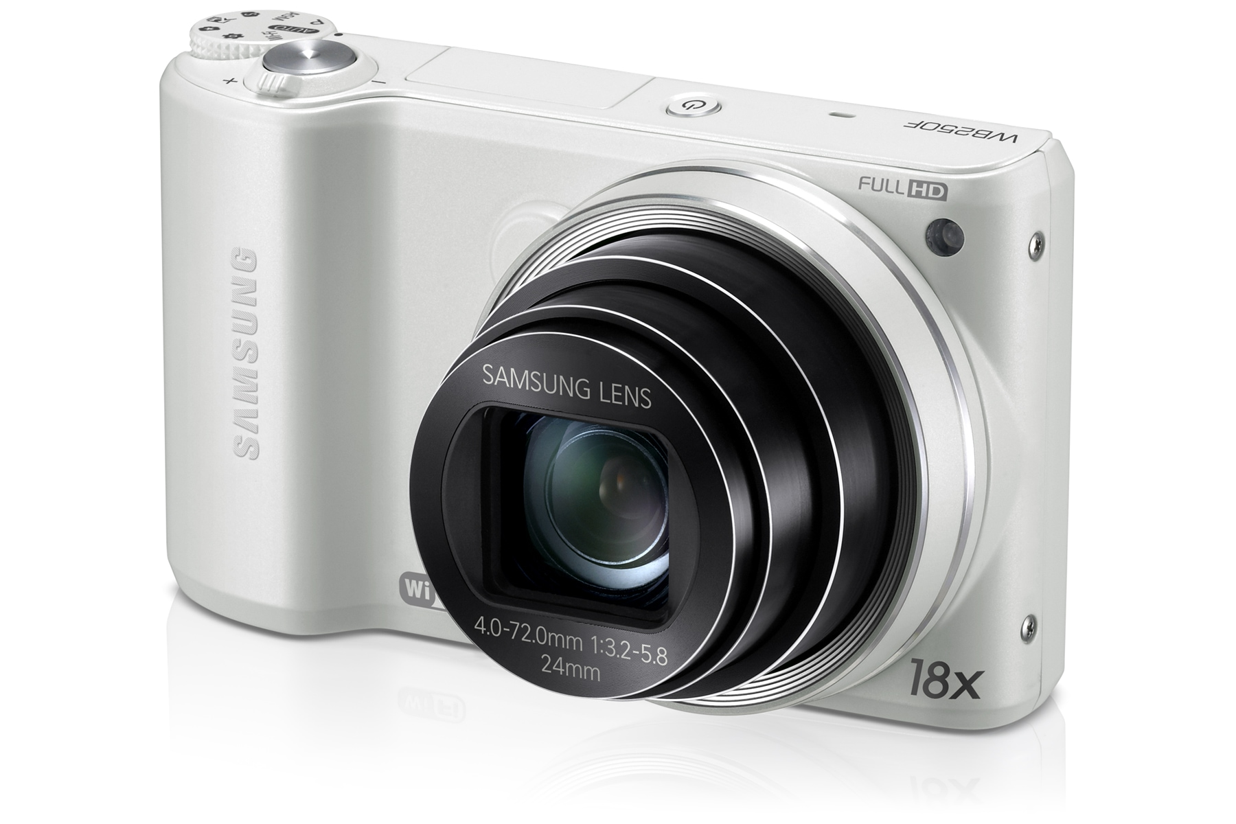 SAMSUNG WB250F Right angle White