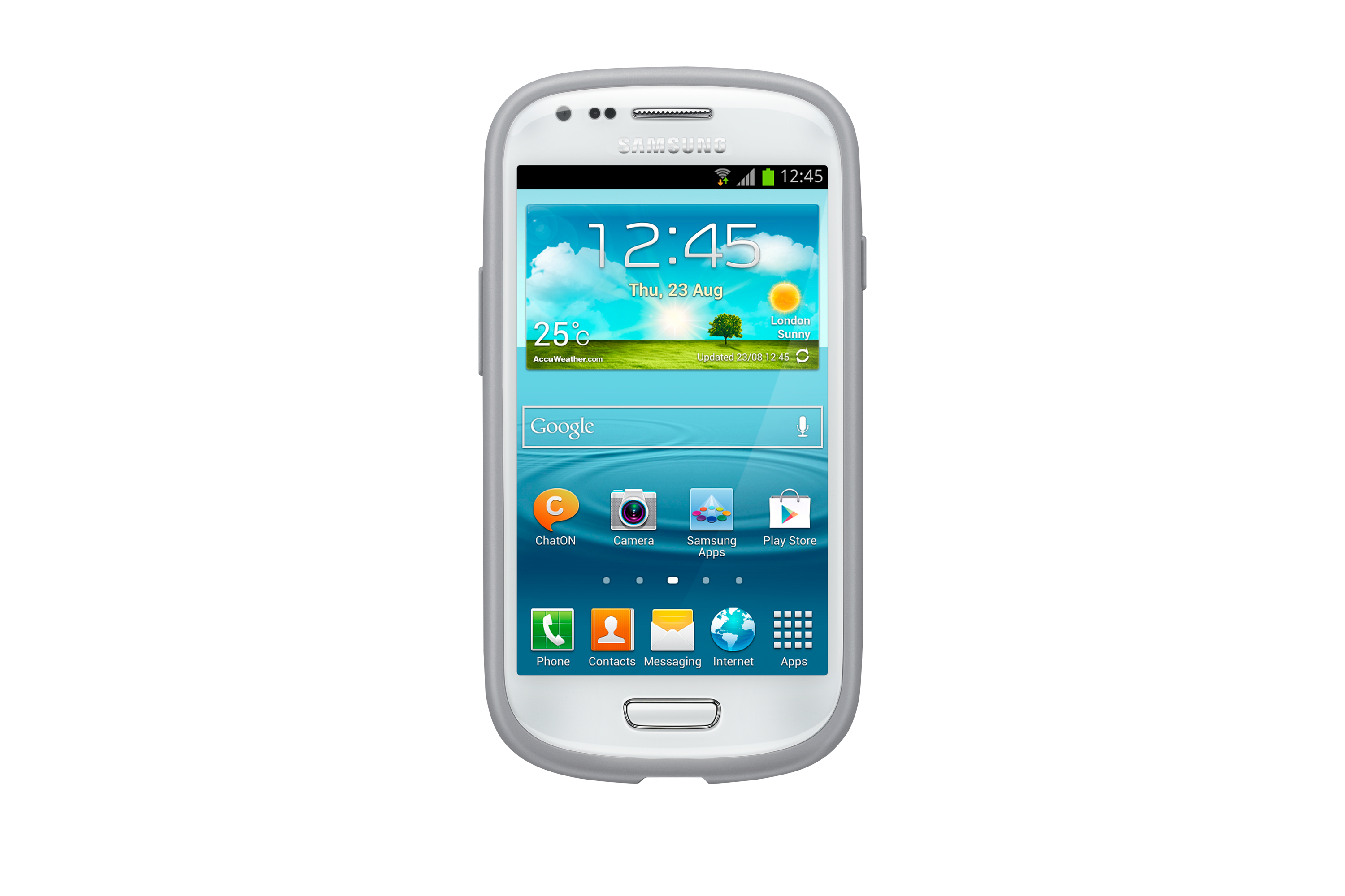 Galaxy S III mini Grey / Green Protective Cover