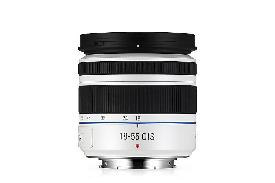 S1855CSW 18-55mm F3.5-5.6 OIS III Standard Zoom Lens Front2 White