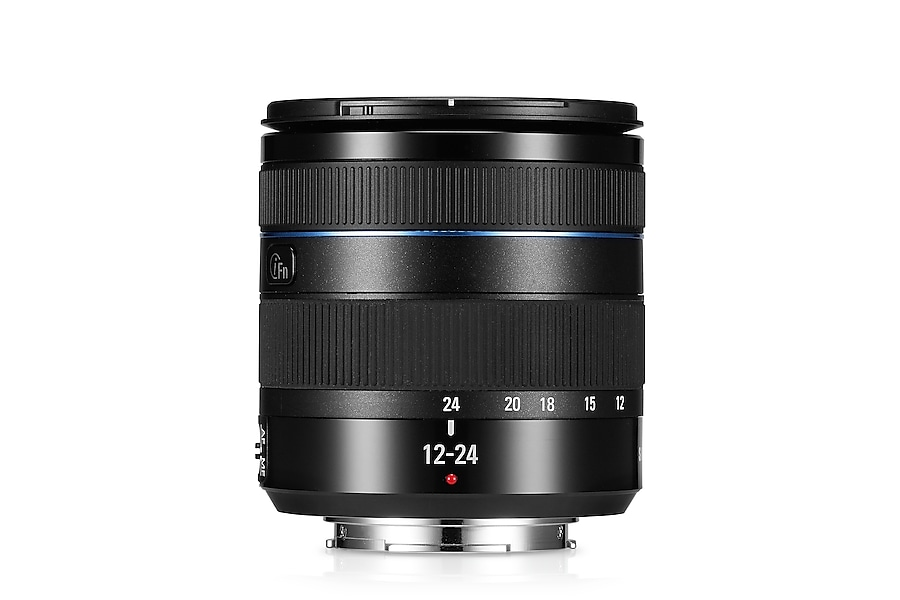 W1224ANB 12-24mm F4-5.6 ED Wide Zoom Lens Front2 Black