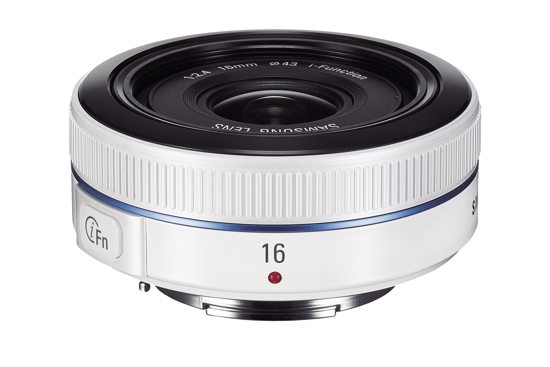W16ANW 16mm F2.4 Ultra Wide Prime Lens Front2 White
