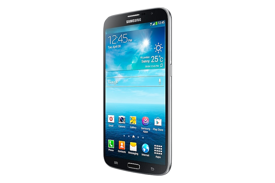 GT-I9205 Galaxy Mega (Black) Perspective