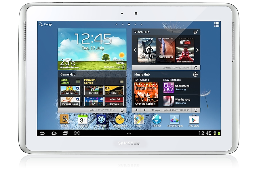 GT-N8010 Galaxy Note 10.1 Wi-Fi (White) Front