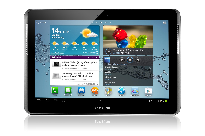 GT-P5100 Galaxy Tab 2 10.1 3G & Wi-Fi (Black) Front