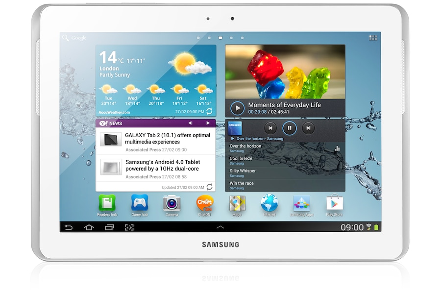 Galaxy Tab 2 (10.1, Wi-Fi) P5110 Front White