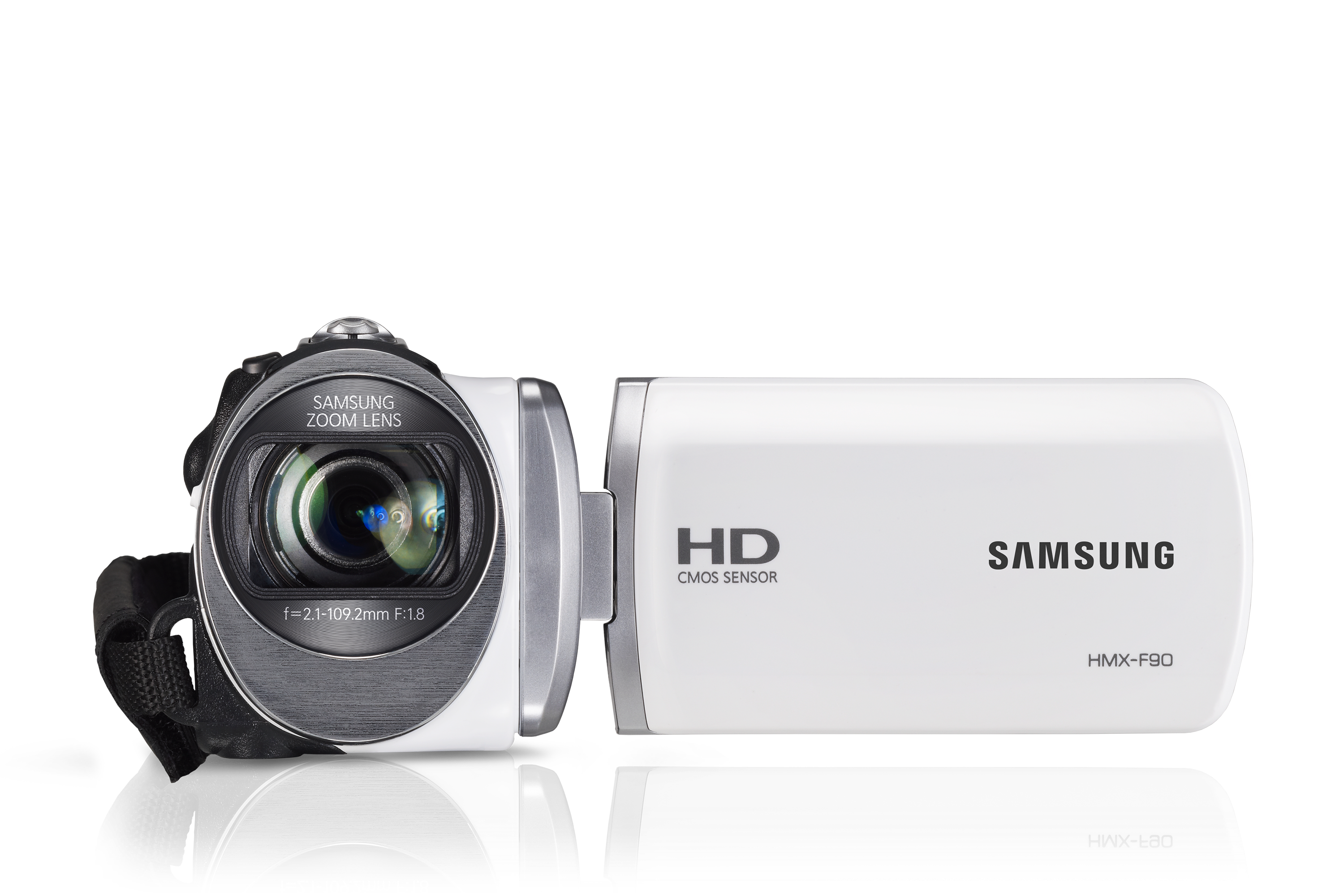 Samsung HD Camcorder with 52x optical zoom - White