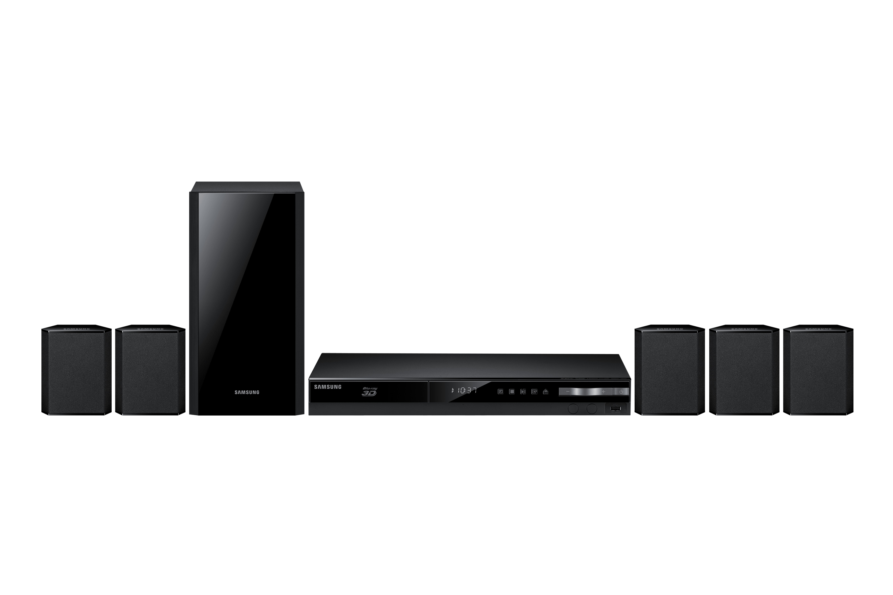 HT-F4500 5 Speaker Networking 3D Blu-ray & DVD Home Theatre System Front Black