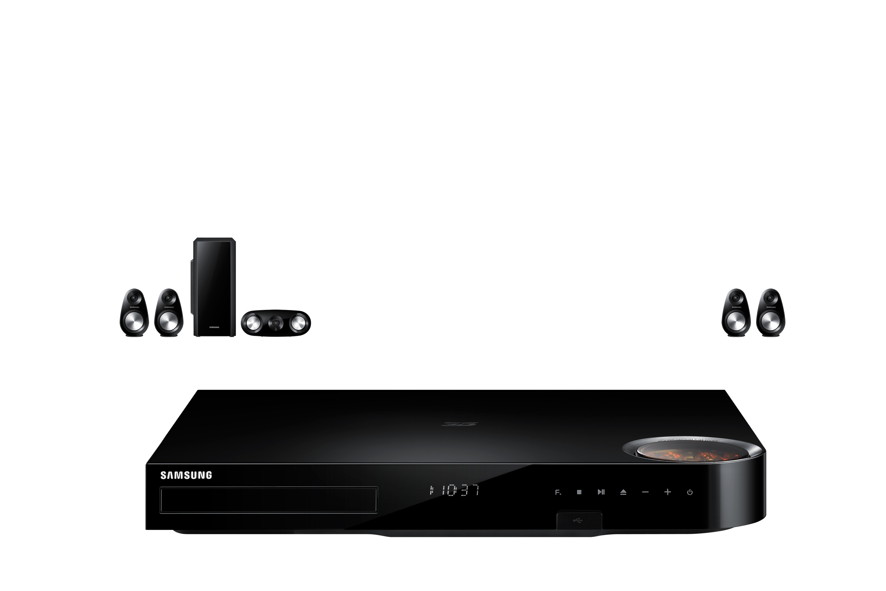 HT-F6500 5 Speaker Smart 3D Blu-ray & DVD Home Entertainment System Detailed Black