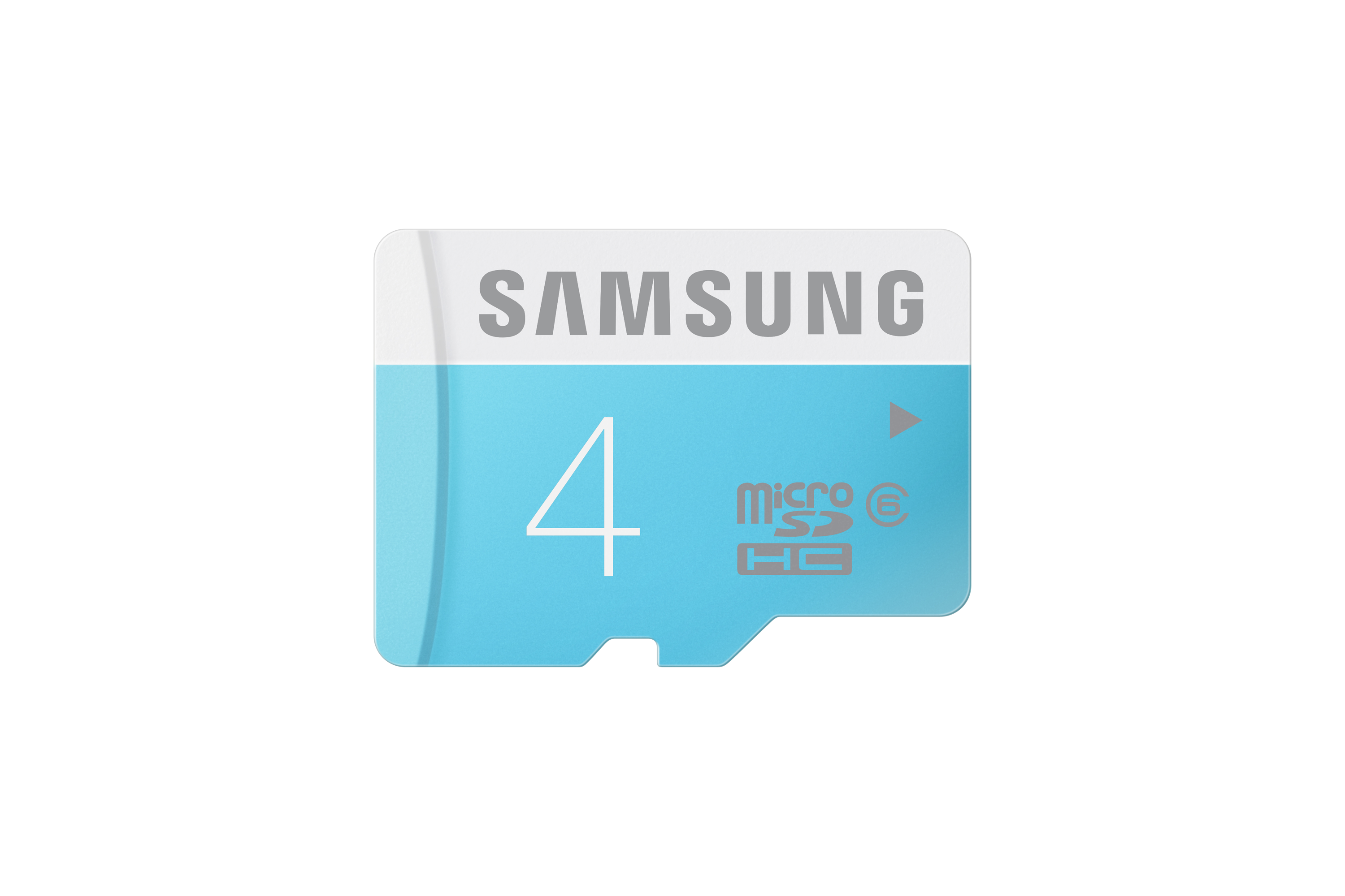 MB-MS04D Micro SDHC Memory Card (4GB) Front Blue