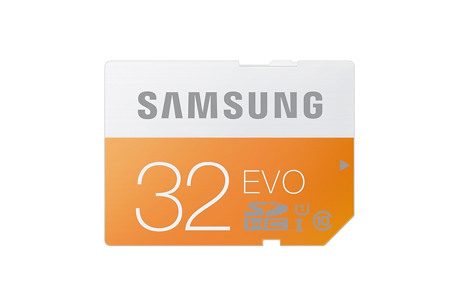 MB-SP32D SDHC EVO Memory Card (32GB) Front Orange