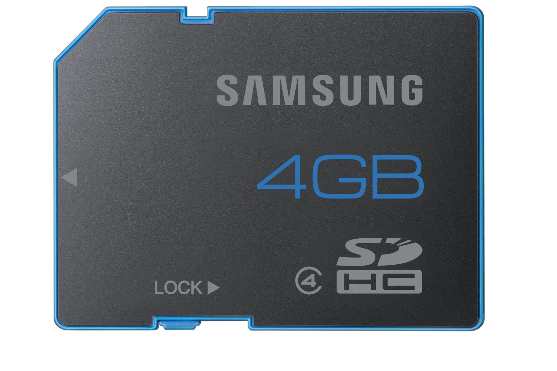 MB-SS4GB 4GB SDHC Class 4 Memory Card front Black