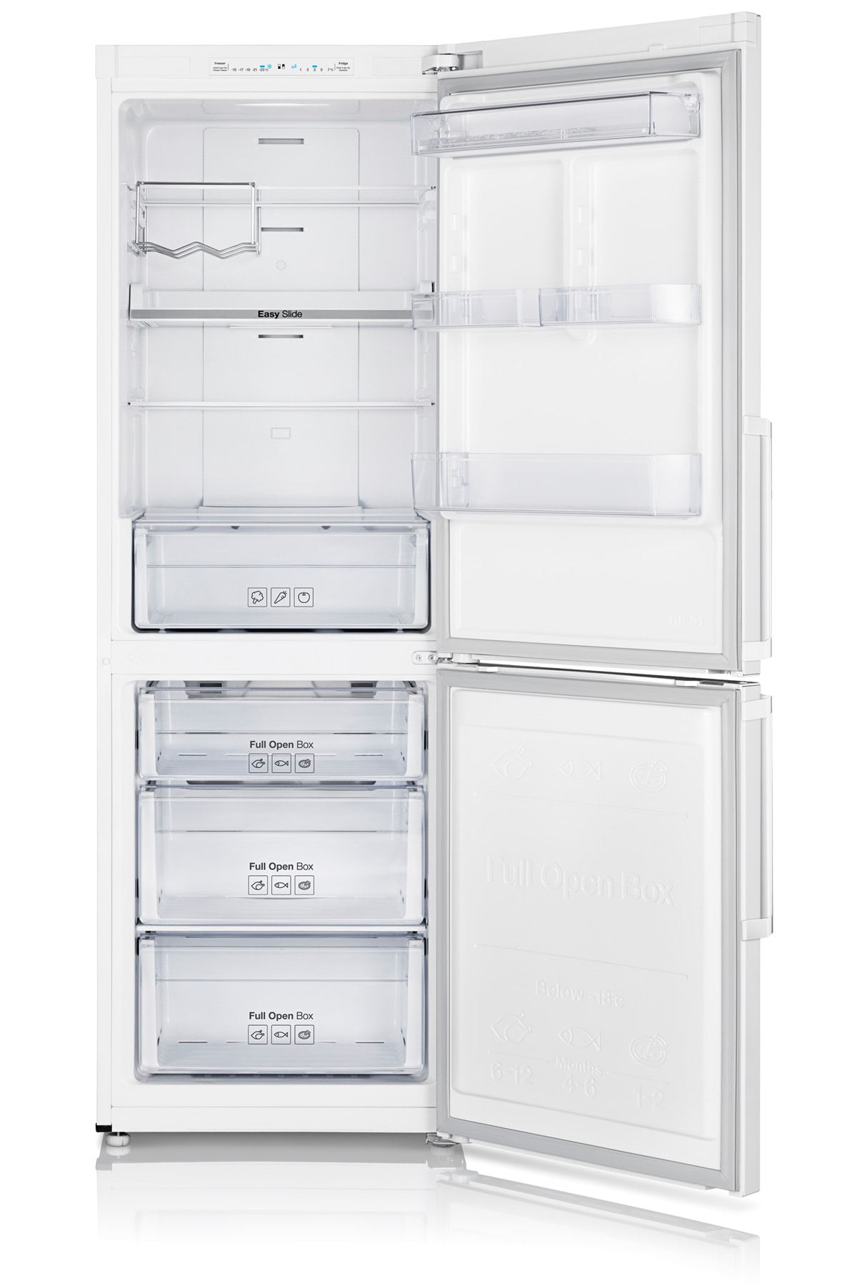 RB29FSJNDWW Fridge Freezer Front Open White