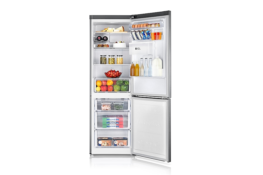 RB31FDRNDSA Fridge Freezer Front Open Silver