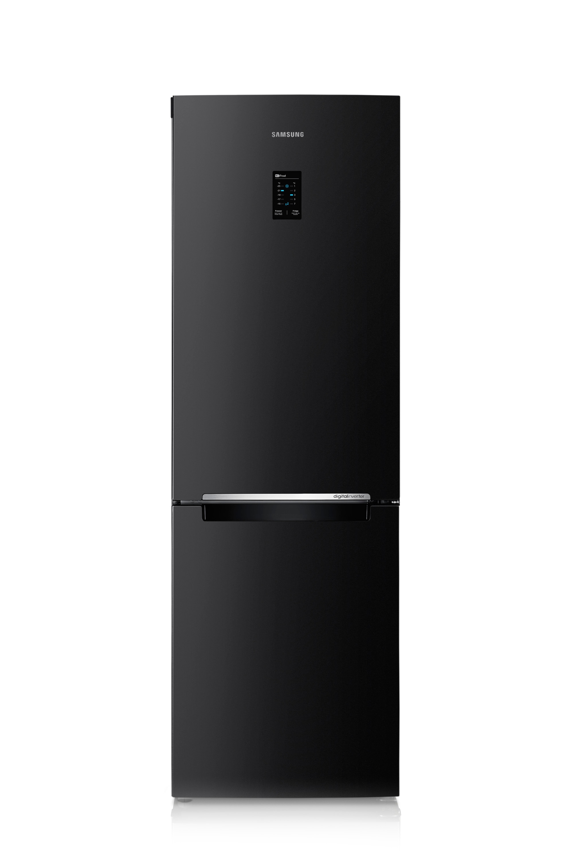 RB31FERNDBC Fridge Freezer Front2 Black