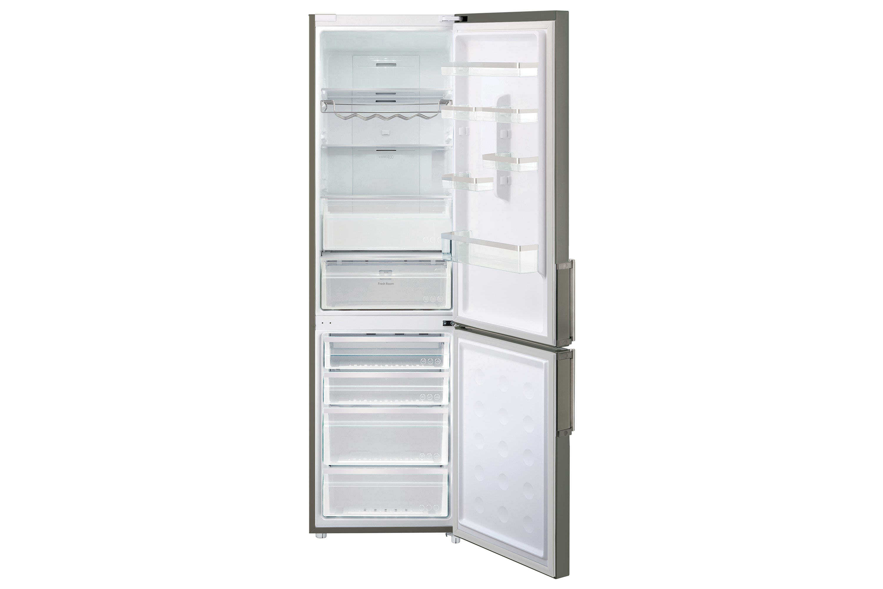 RL60GZEMG G-Series Fridge Freezer Front Open Grey
