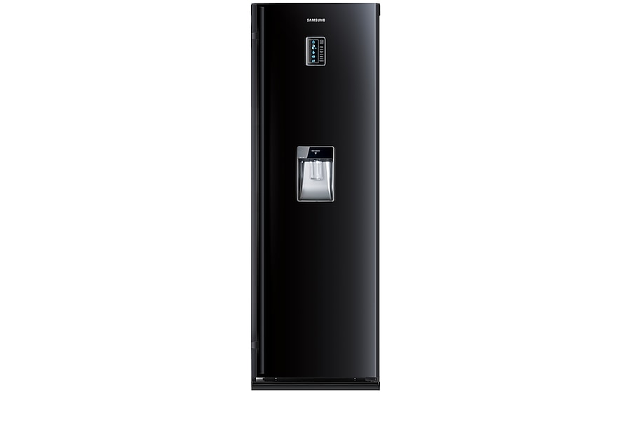 RR82PBBB One Door Refrigerator Front2 Black