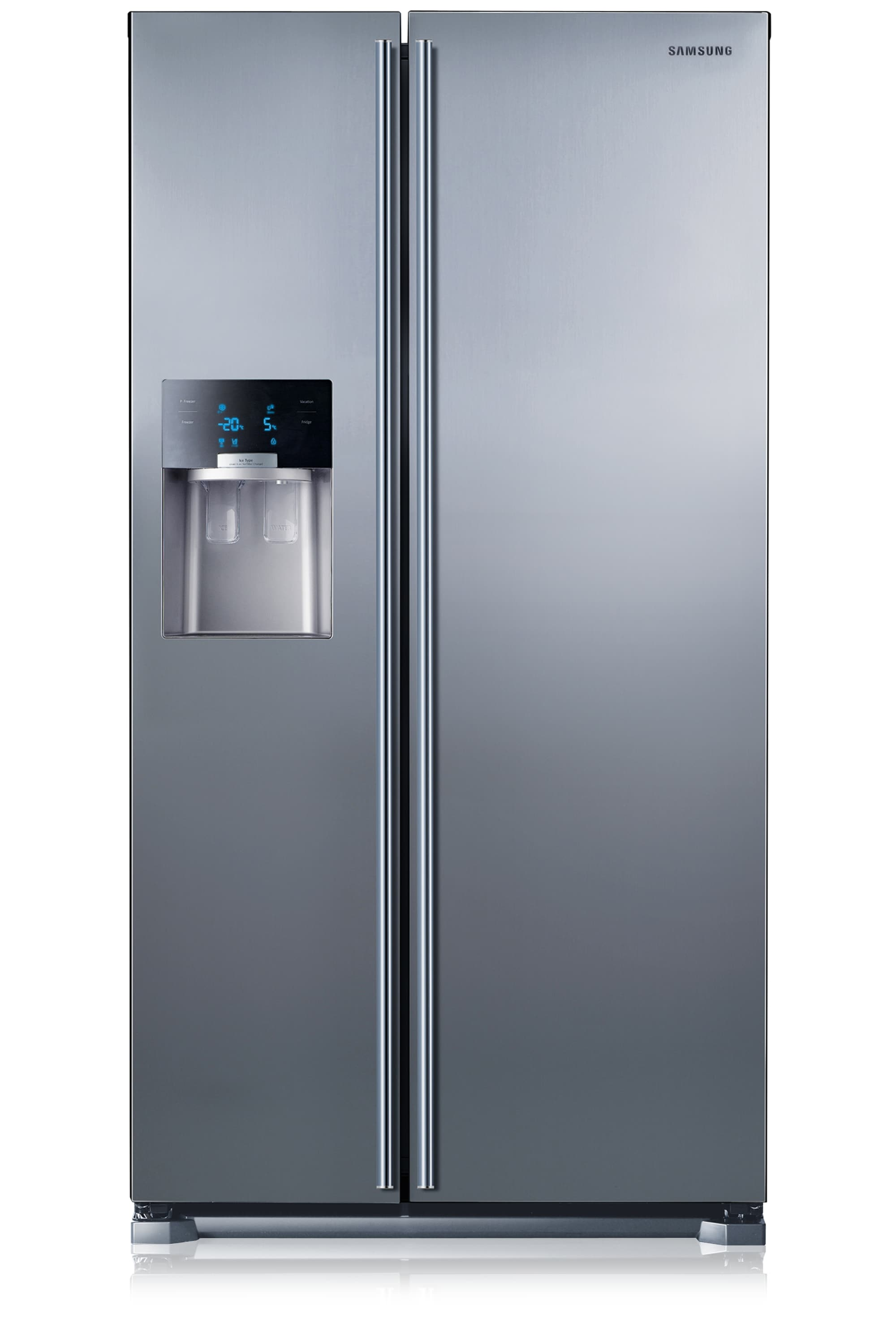 RS7567BHCSL H-Series American Style Fridge Freezer Front2 Grey
