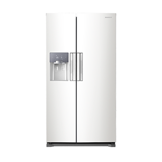 RS7667FHCWW H-Series American Style Fridge Freezer White Front
