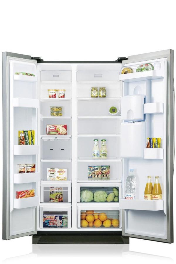 RSA1RTMG A-Series American Style Fridge Freezer Front Open Silver