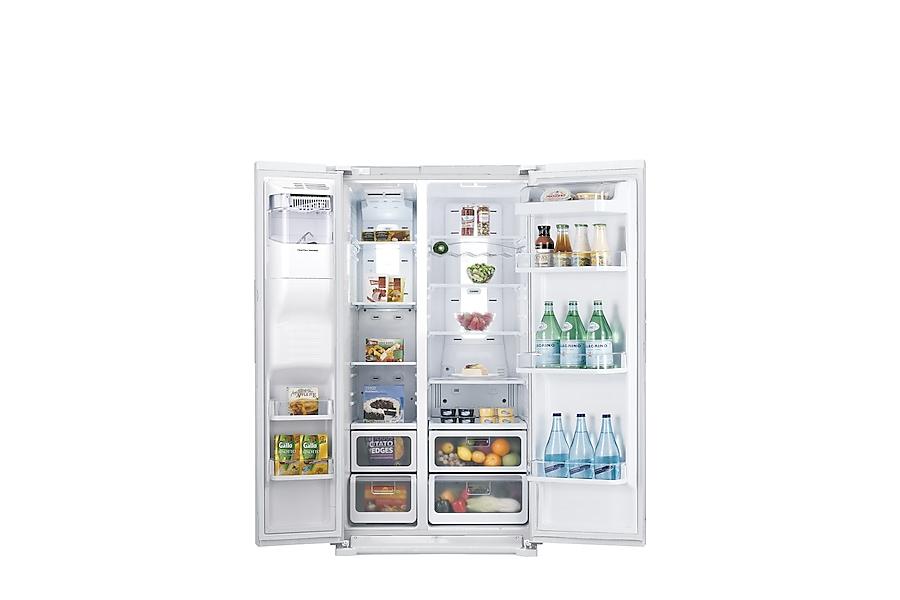 RSH7UNSW H-Series American Style Fridge FreezerFront Open White