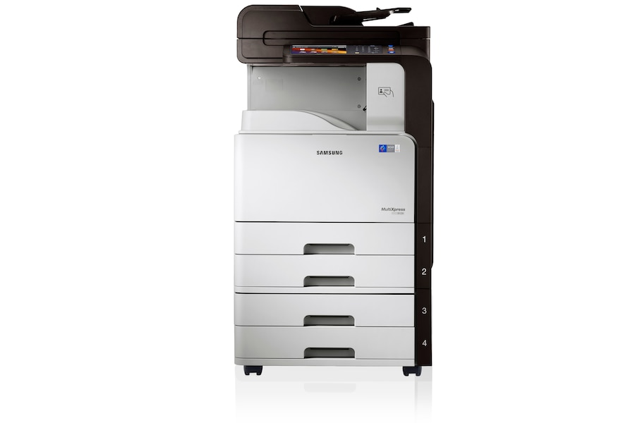 SCX-8128NX 28ppm A3 Mono Multifunction Printer 8128NX Front Basic 2 white