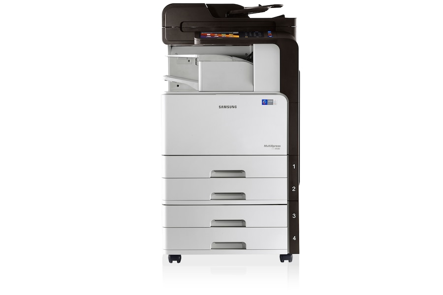 SCX-8128NX 28ppm A3 Mono Multifunction Printer 8128NX Front Inner Finisher white