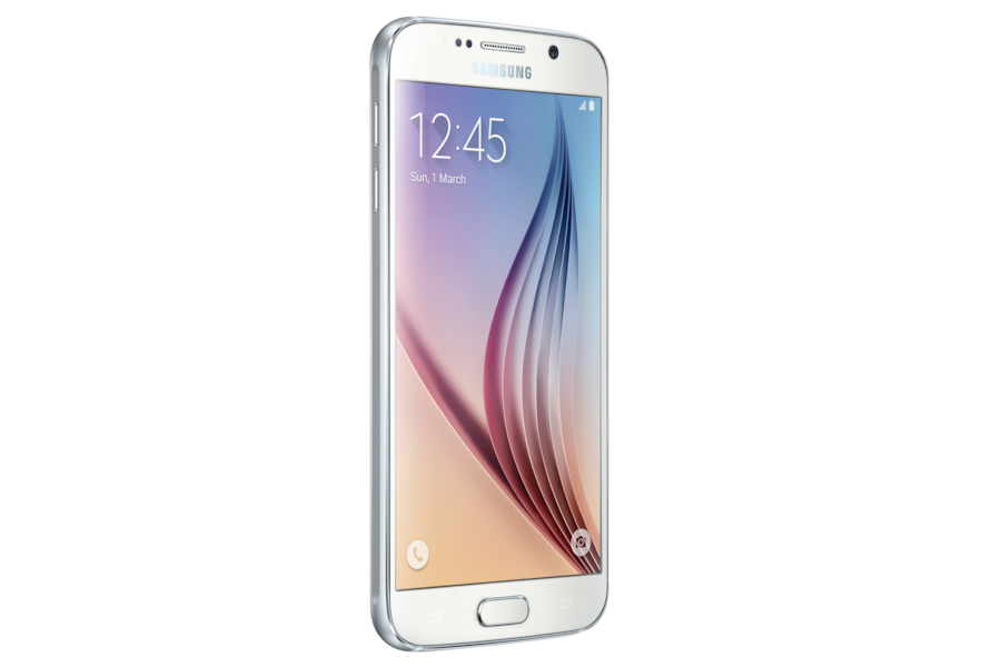 Galaxy S6 G920F Galaxy S6 64GB White Pearl Front Perspective
