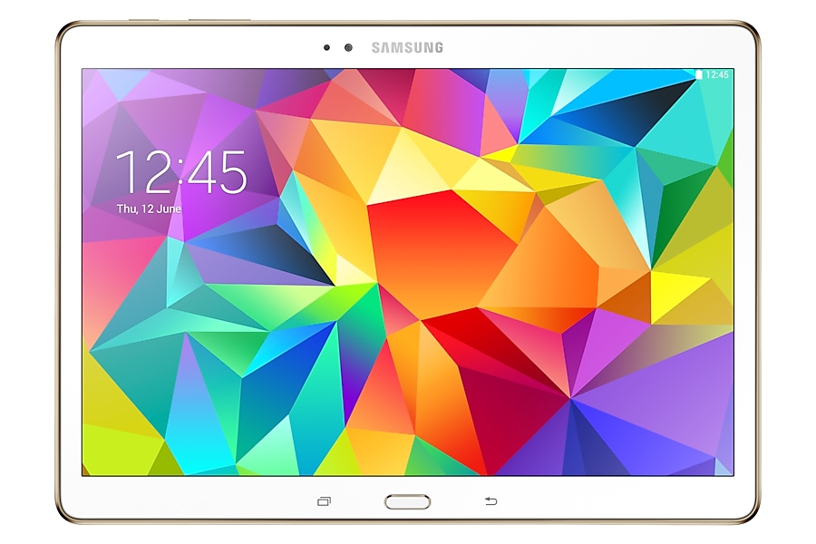 SM-T800 Galaxy Tab S 10.5 Wi-Fi (Dazzling White) Front