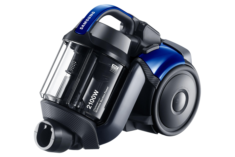 SC21F50HD CycloneForce Pet Bagless Cylinder Left angle blue